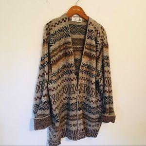 VTG Dad Sweater—Wool Cardi